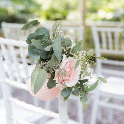 huren roze vaasjes bruiloft rose goud roze waxinelichtjes