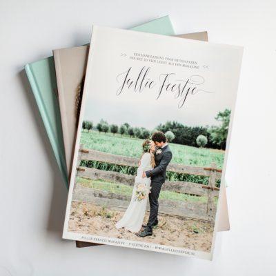 Ebook Jullie Feestje een magazine voor iedereen met trouwplannen! Inclusief de complete checklist, kortom een handige handleiding voor bruidsparen.