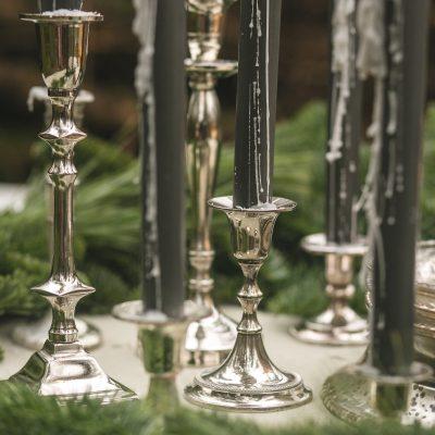 zilveren kandelaren huren bruiloft