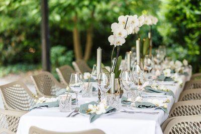 huur servet bruiloft groen