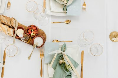 servetten huren bruiloft feest katoen olijf groen