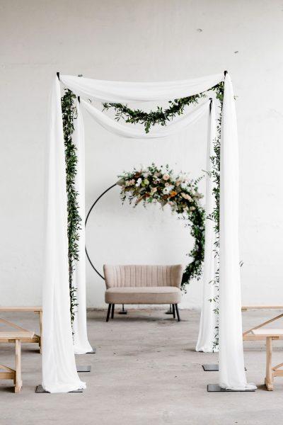 Huur witte stof bruiloft soepelvallende backdrop stof
