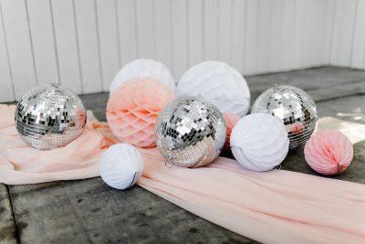 huren discobal bruiloft groot set glasbal zilver feest