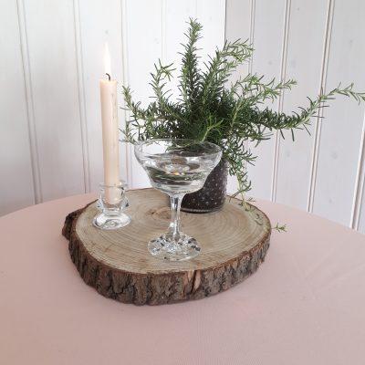 huren houten dienblad boomstam schijven hout bruiloft decoratie