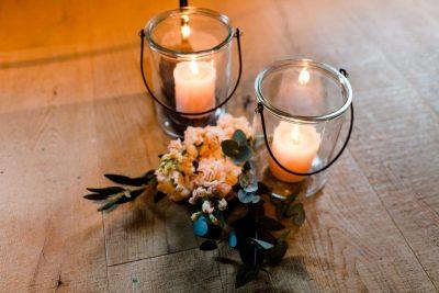 windlicht glas zwart basic rond huren bruiloft decoratie
