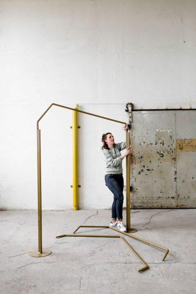 gouden backdrop symmetrisch gebruiksaanwijzing demontabel