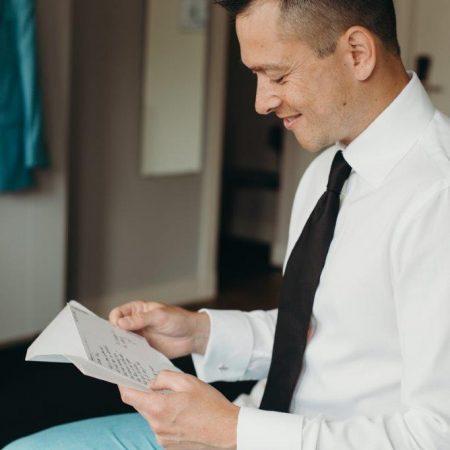 persoonlijke brief lieve verrassing voor bruidegom