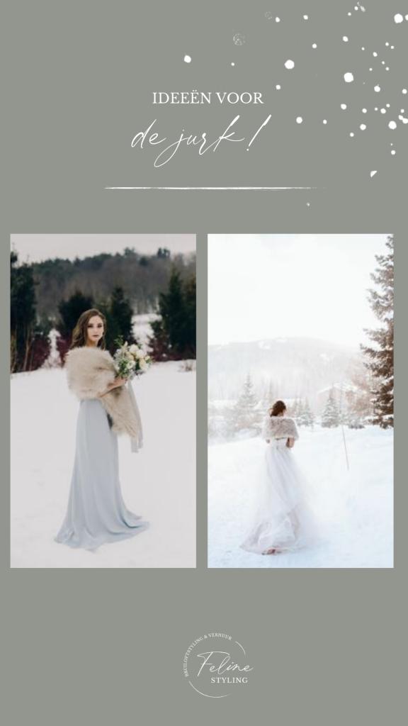 winter bruid trouwjurk inspiratie