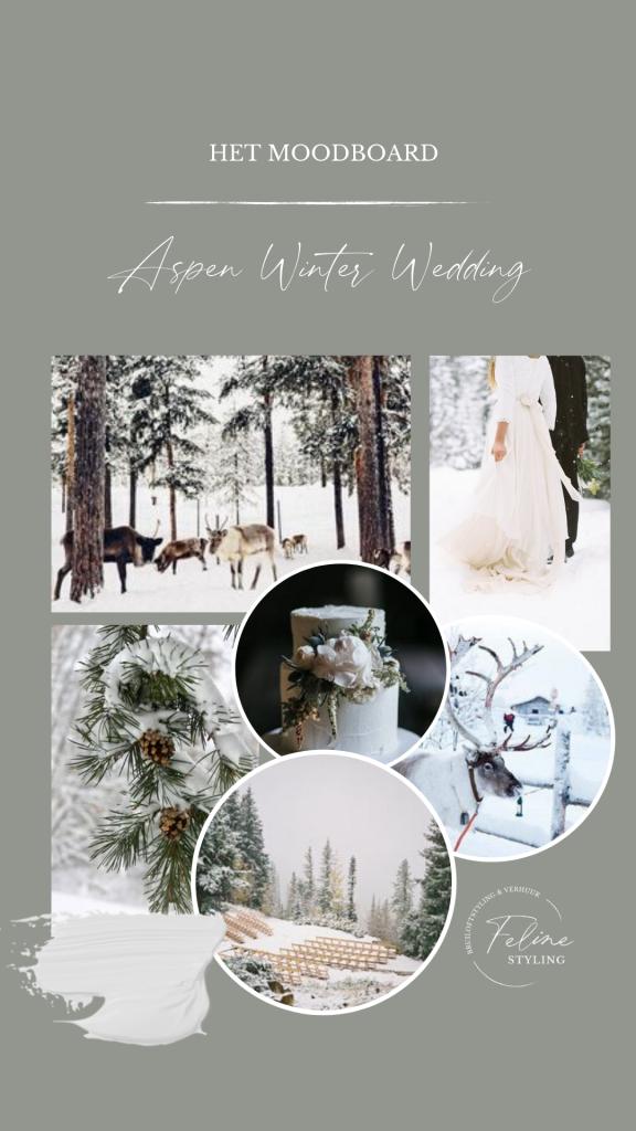moodbord bruiloft winter wedding