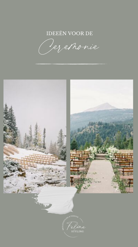 ceremonie decoratie winter bruiloft