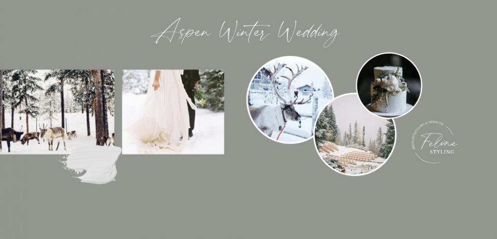 winter bruiloft decoratie aankleding moodbord
