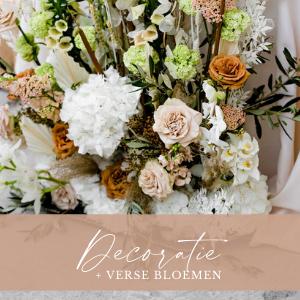 Decoratie inclusief verse bloemen