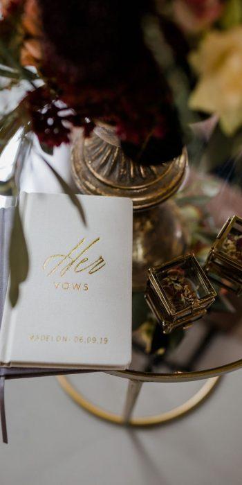 geloftenboekje his vows aantekeningen boekje gouden letters